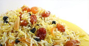 STEWED RICE (PLOV) WITH RAISINS